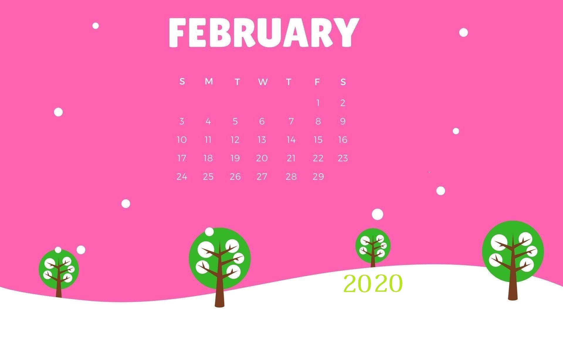 February 2020 Calendar Wallpapers   Top February 2020 1920x1203