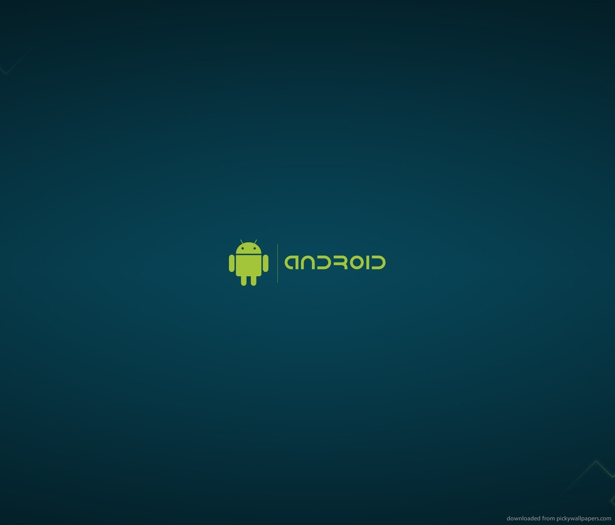 Android On A Blue Background Wallpaper For Samsung Galaxy Tab 1200x1024