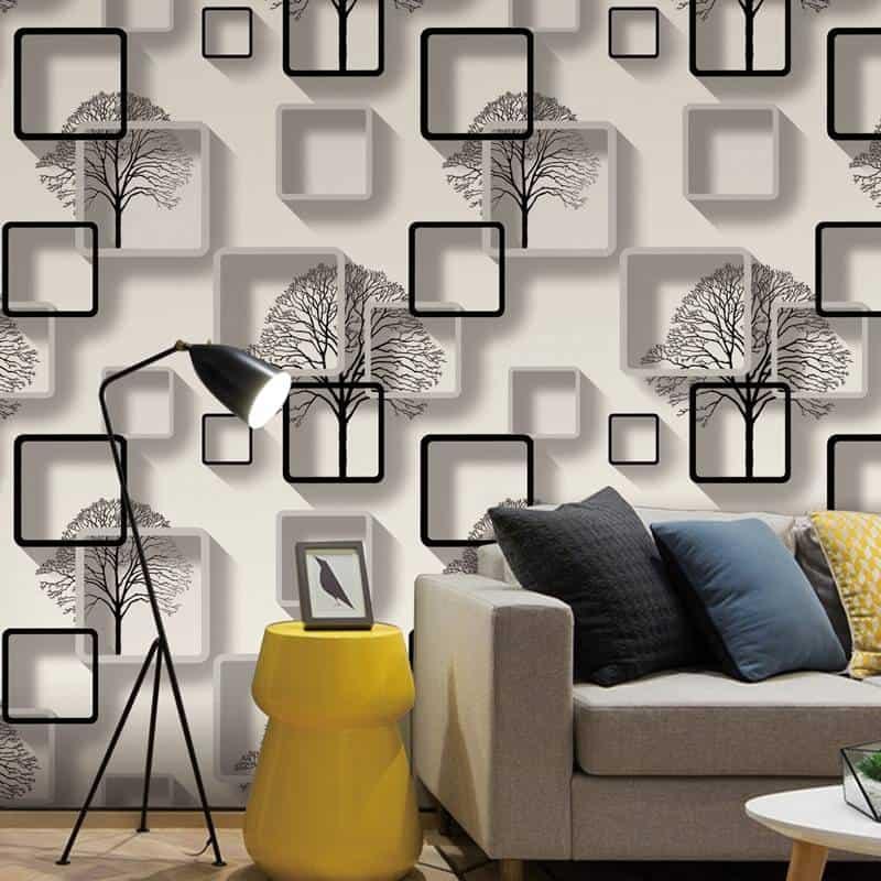 WhitePurpleBlue Modern 3d Wallpaper For Living room   halalcitymart 800x800