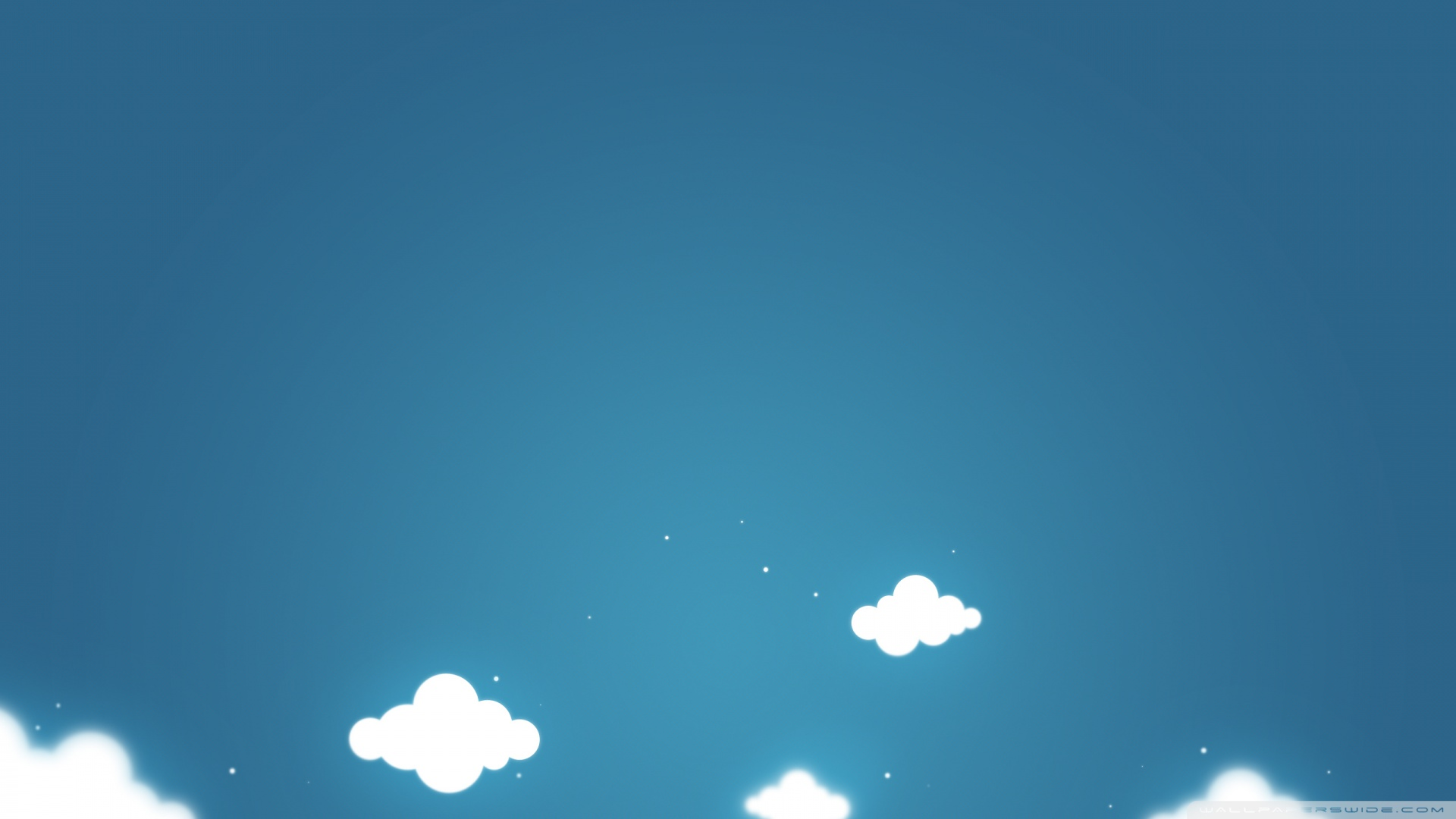 Clouds And Blue Sky Wallpaper 1920x1080 Cartoon Clouds And Blue 1920x1080