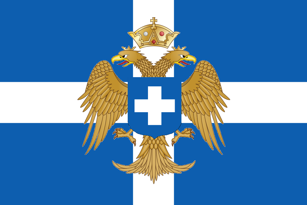 Flag of the Byzantine Kingdom of Greece by ramones1986 1000x667
