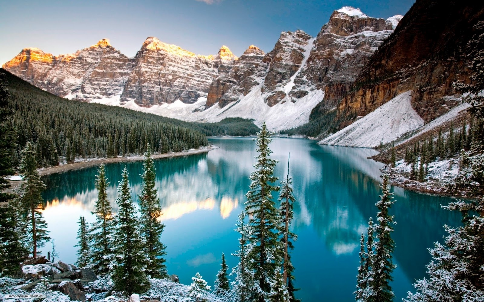 Winter Mountain Lake Windows 8 Wallpaper 12080 Wallpaper Wallpaper 1600x1000