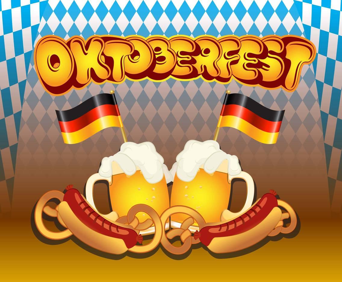 Oktoberfest Background Template Vector Art Graphics 1136x936