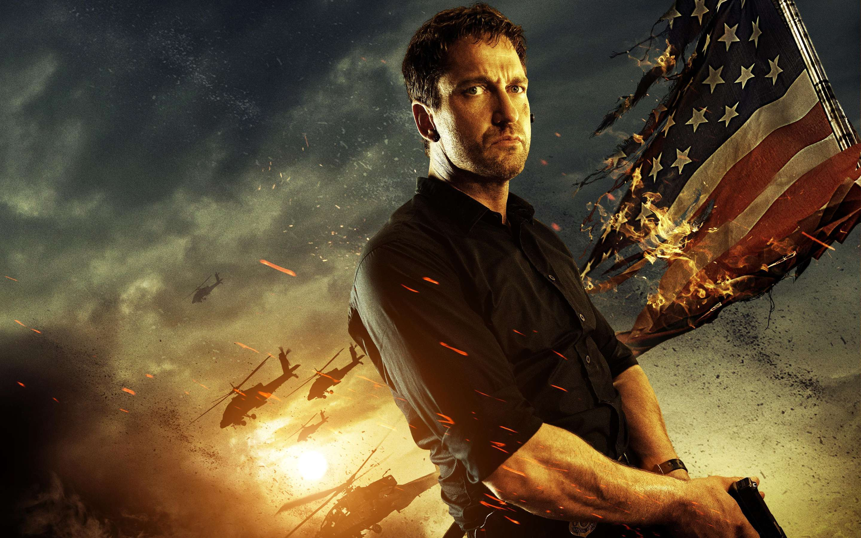 Gerard Butler In Olympus Has Fallen Wallpapers Hd Wallpapers 2880x1800