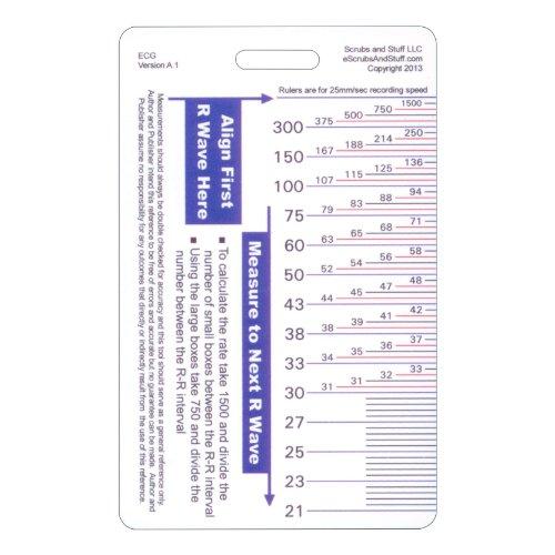 ECG Ruler Pocket Card Vertical Badge ID Reference Guide EKG 500x500