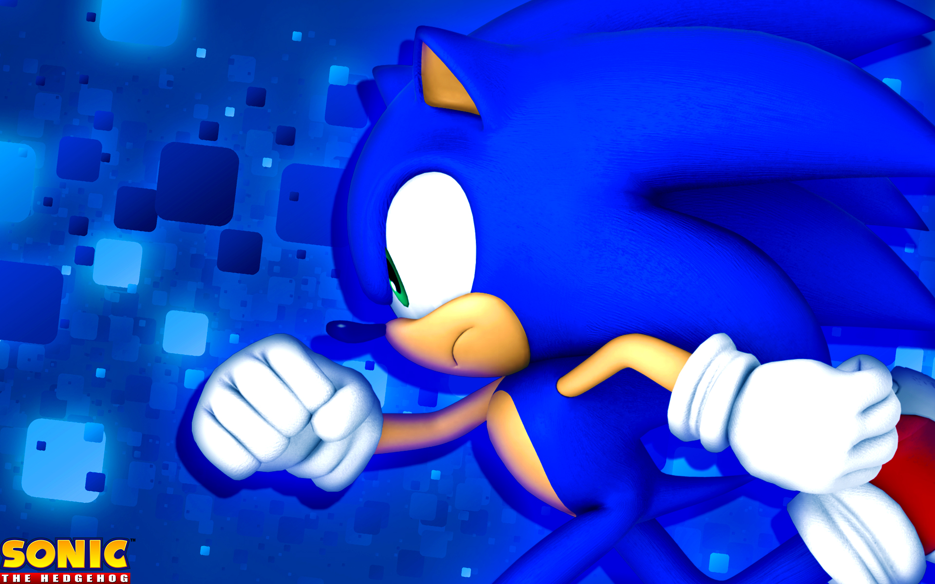 Free Download Classic Sonic The Hedgehog Blue Hd Wallpaper Cool