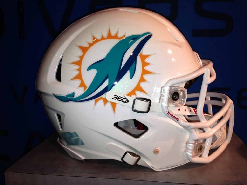 Detailed look at Miami Dolphins new football helmets for 2013 [Photo 1024x768