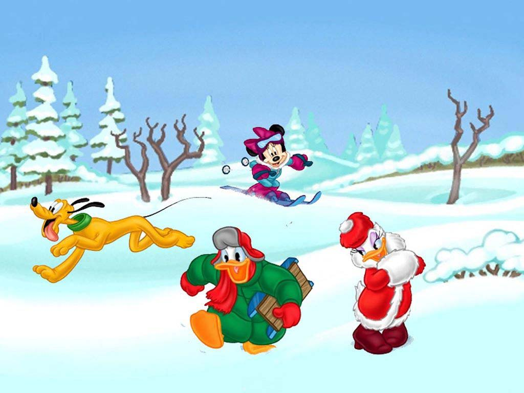 Mickey Mouse Wallpaper for Christmas 1024x768