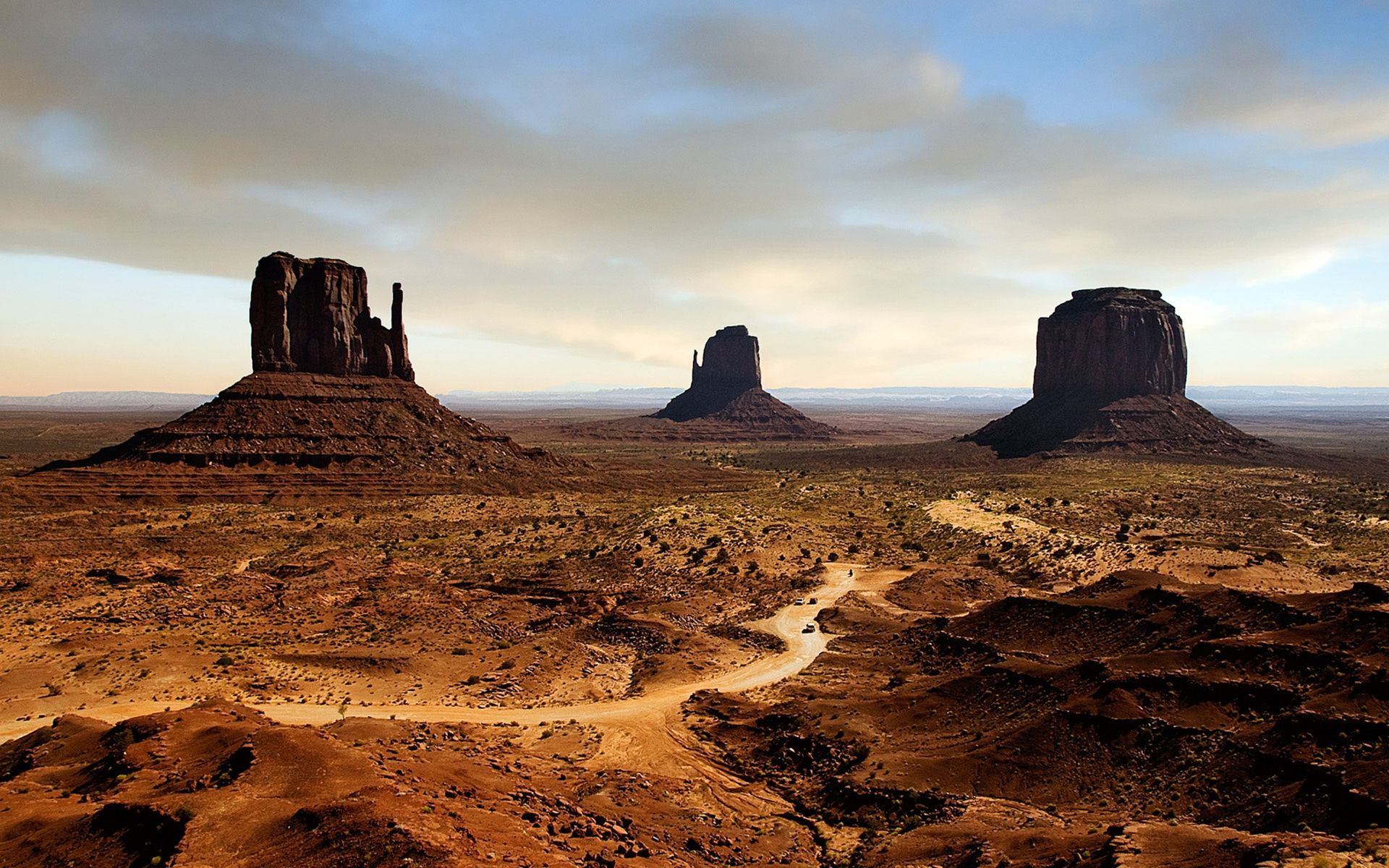 Arizona Desert Sunset Mountains WallpaperCowcom 1920x1200