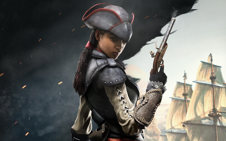 Assassins Creed 4 Multiplayer Femlae wallpaper 2880x1800