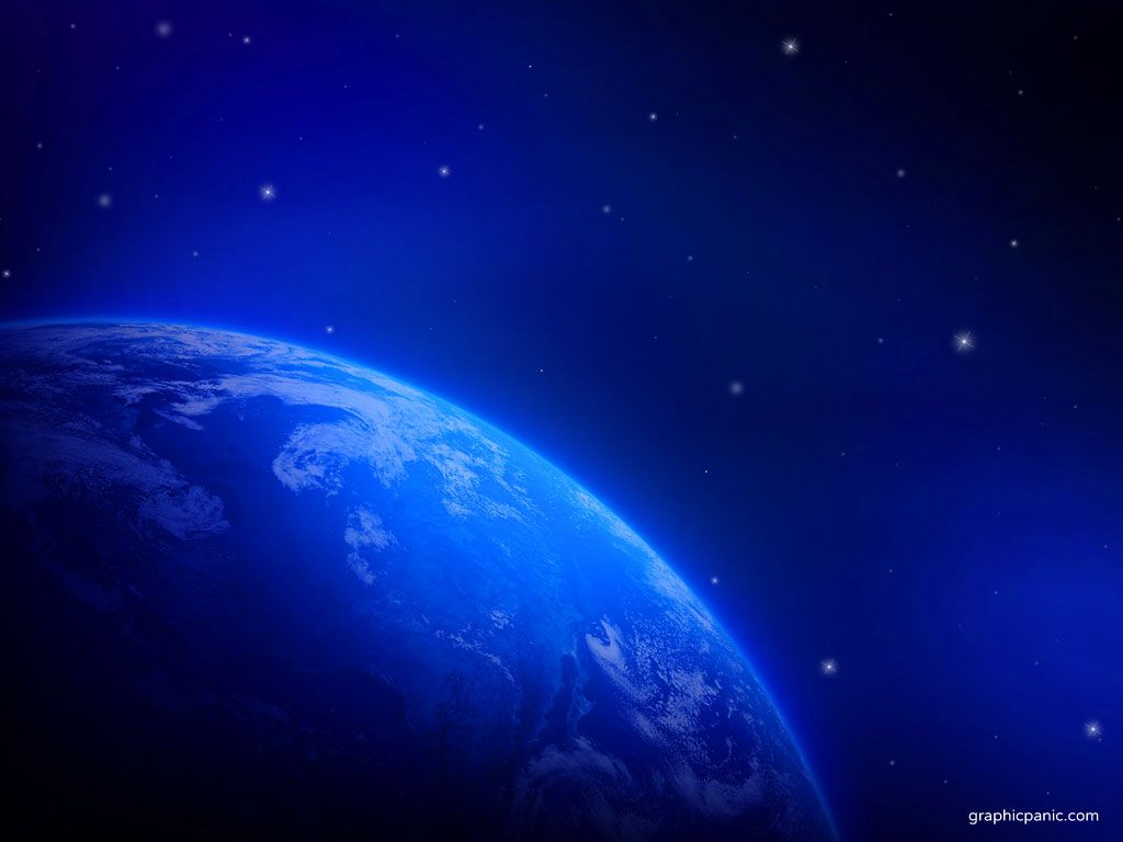 Blue Earth Wallpaper PowerPoint Background Templates 1024x768