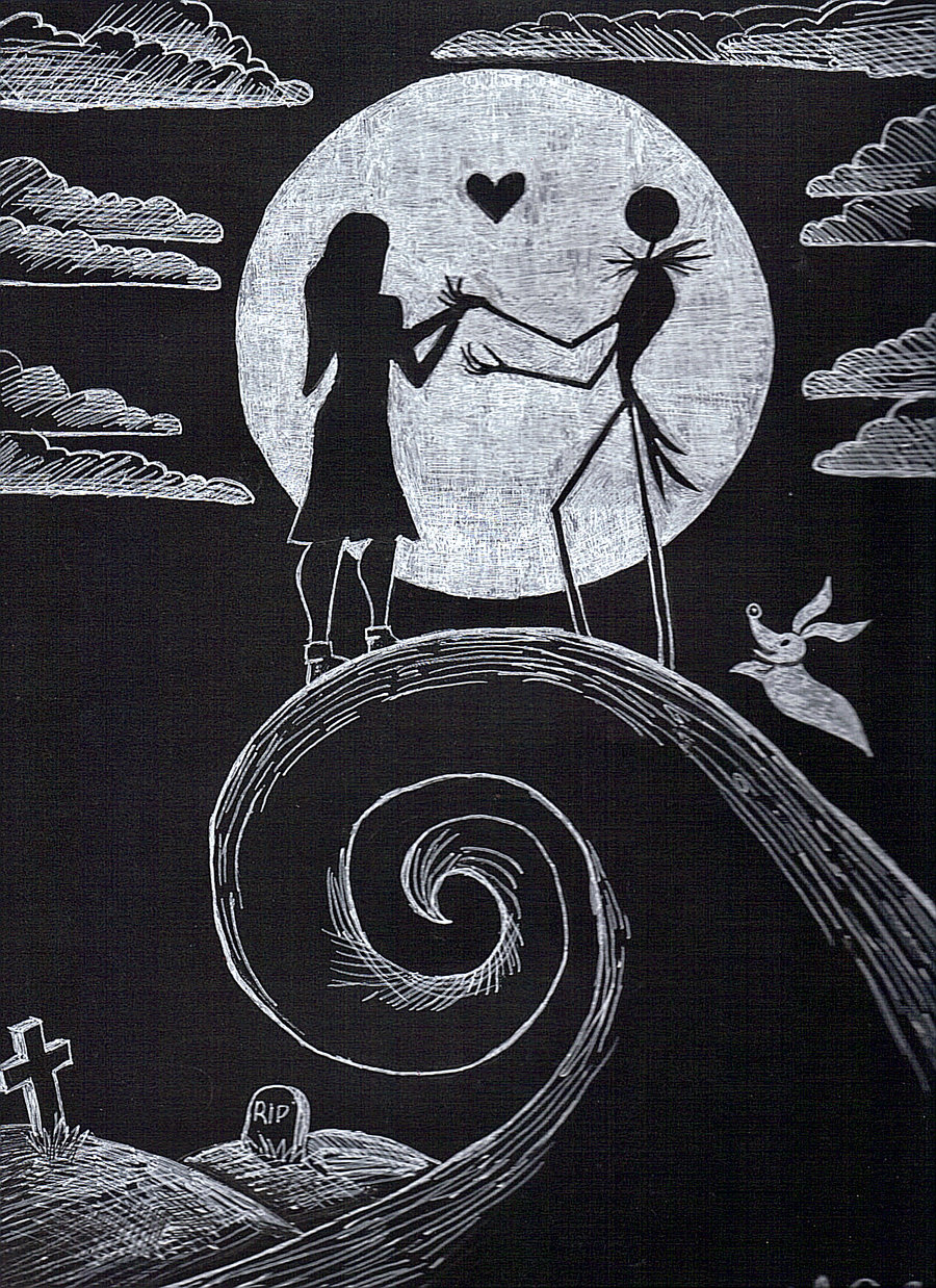 Love Jack And Sally Image   Nightmare Before Christmas Romantic 900x1238