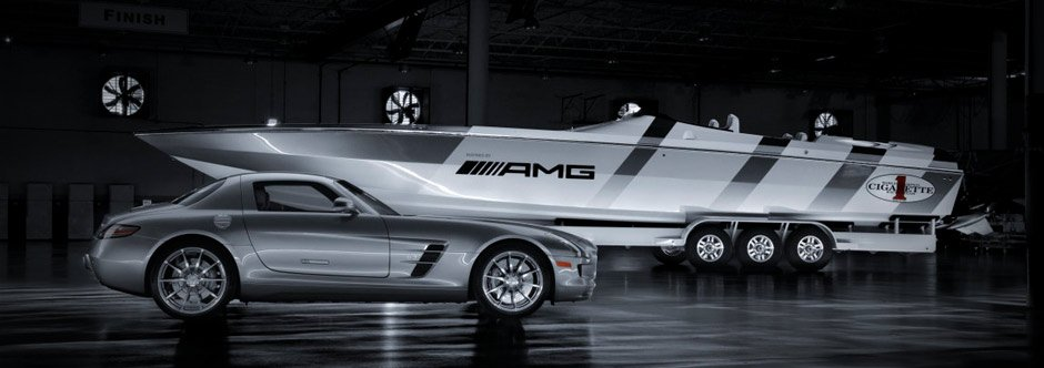 Mercedes Benz and Cigarette Racing Debut AMG Inspired Boat 940x332