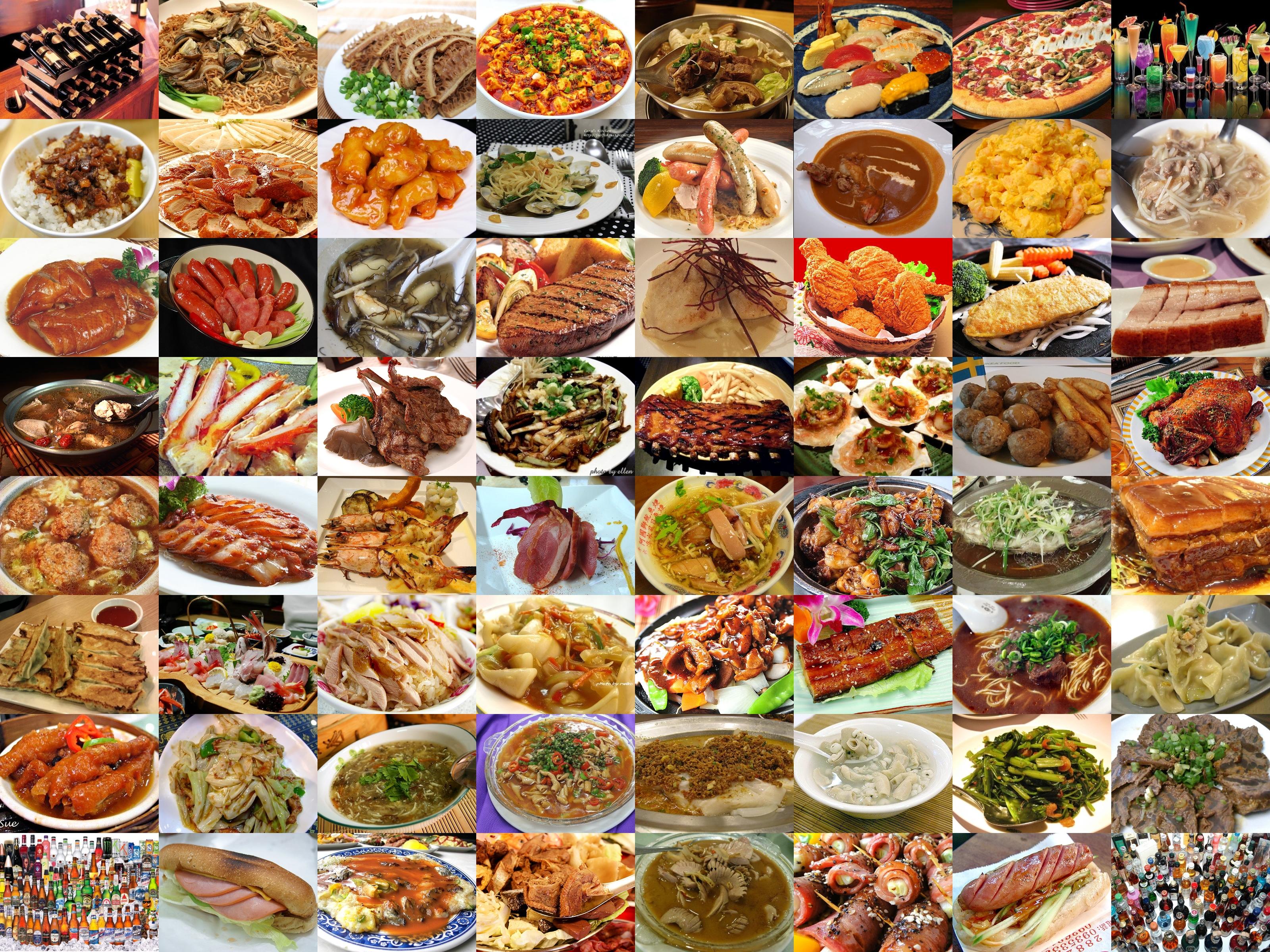 Wallpaper Of 64 Kinds Of Delicious Foods Desktop Backgrounds Wallpaper 3200x2400