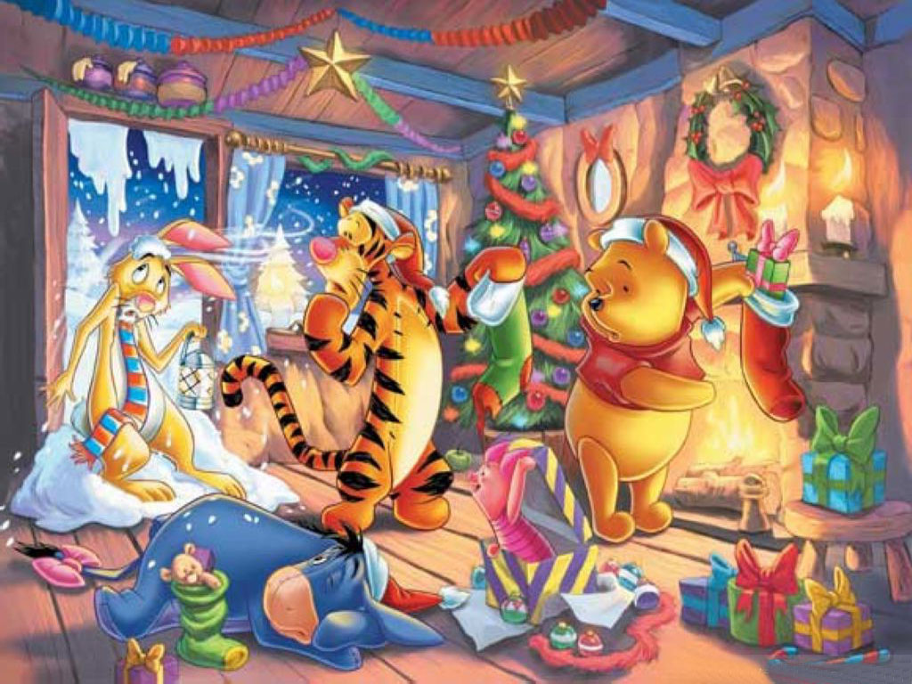 Winnie The Pooh Christmas Computer Wallpapers