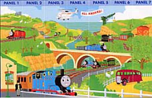 Thomas the Tank Train Wallpaper Border YH1399BD   Wallpaper Border 525x338