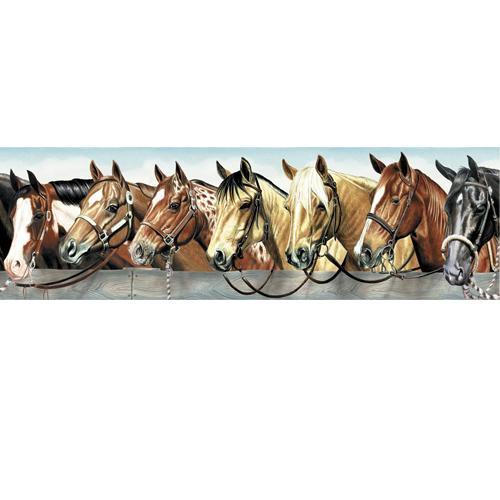 Western Horses Wallpaper Border 500x500