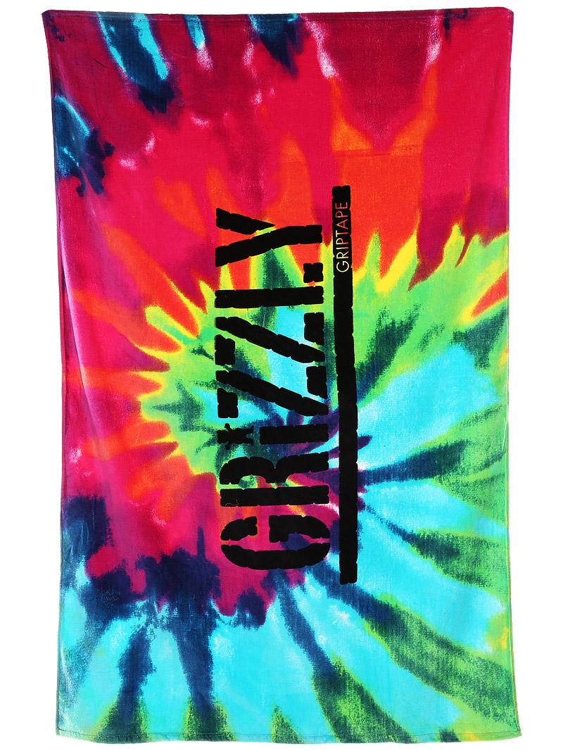 Grizzly Grip Logo Tie Dye Grizzly tie dye beach towel 800x1067