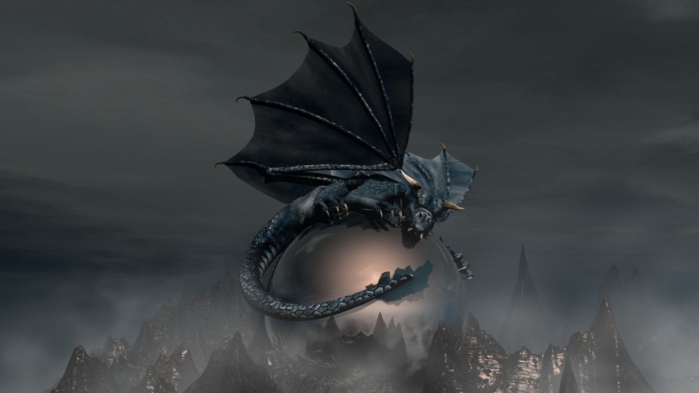 Chinese Dragon Wallpapers 3D 1366x768