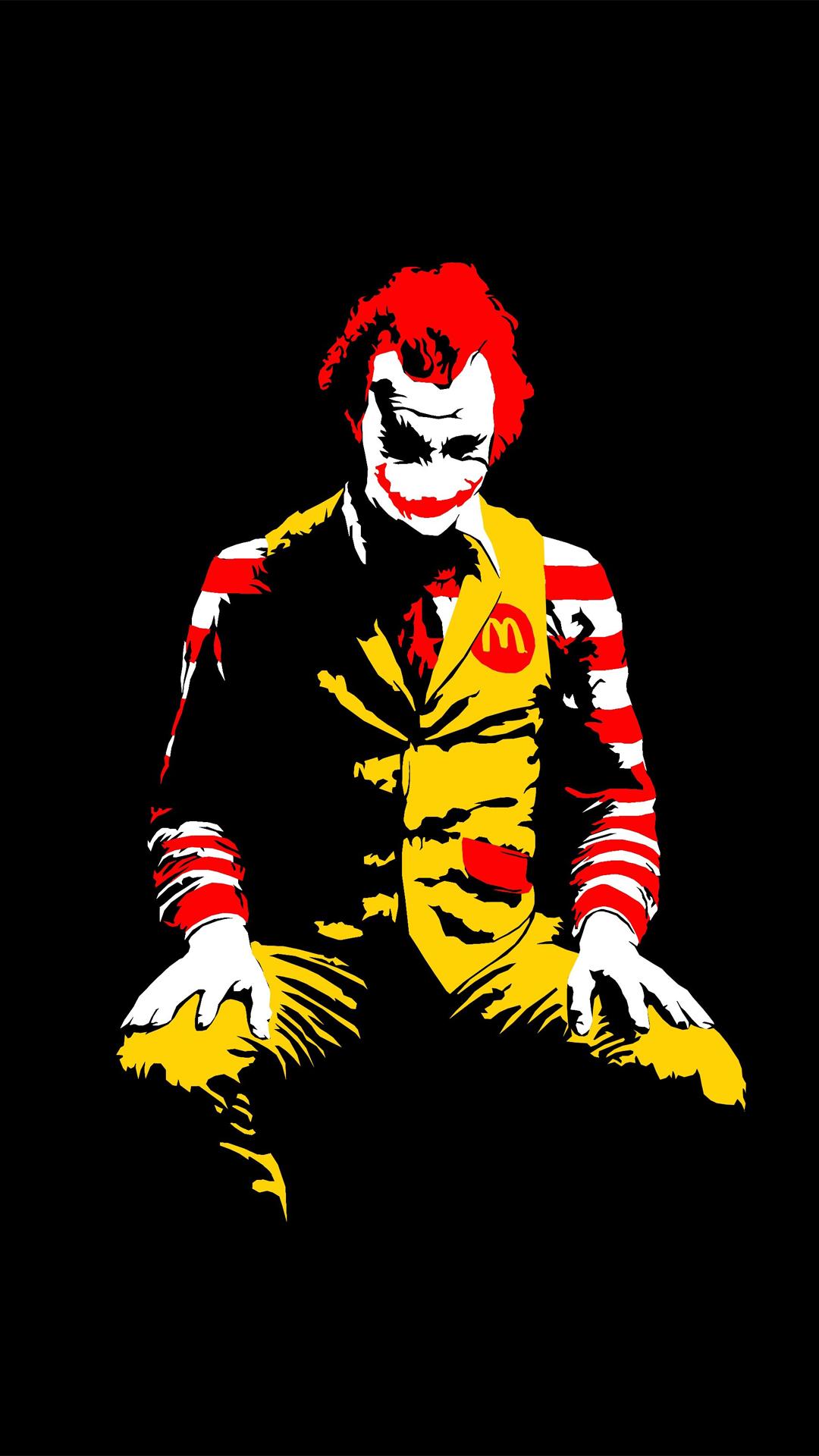 The Joker Ronald Mcdonald   Best htc one wallpapers 1080x1920