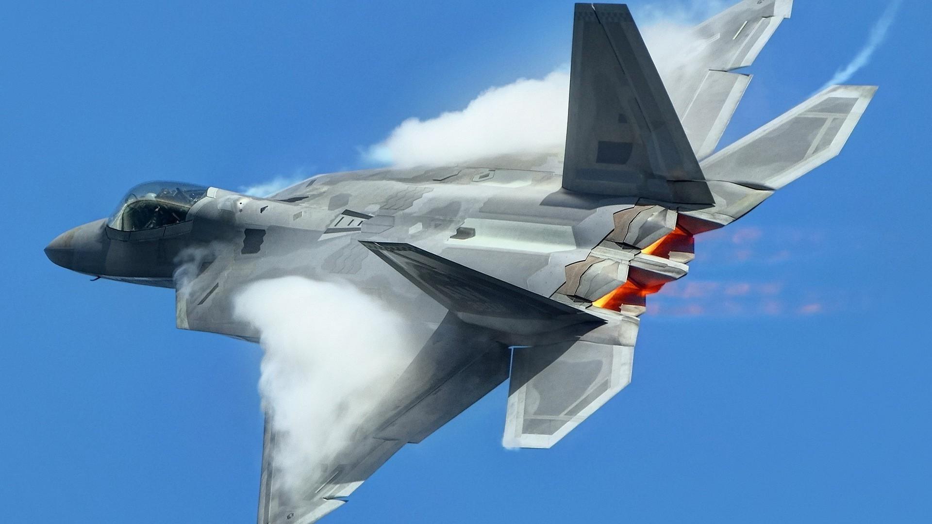 22 Raptor aircraft blue close up f 22 gray raptor 1920x1080