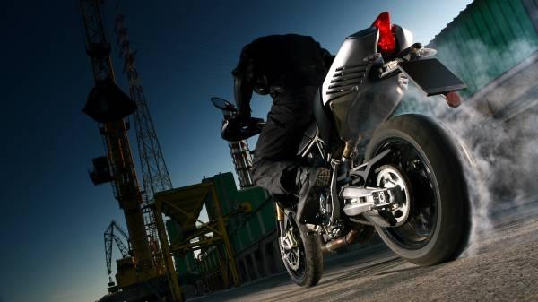 Motorcycle rear view superbike Burnout desktop wallpapers 1920x1080 600x337