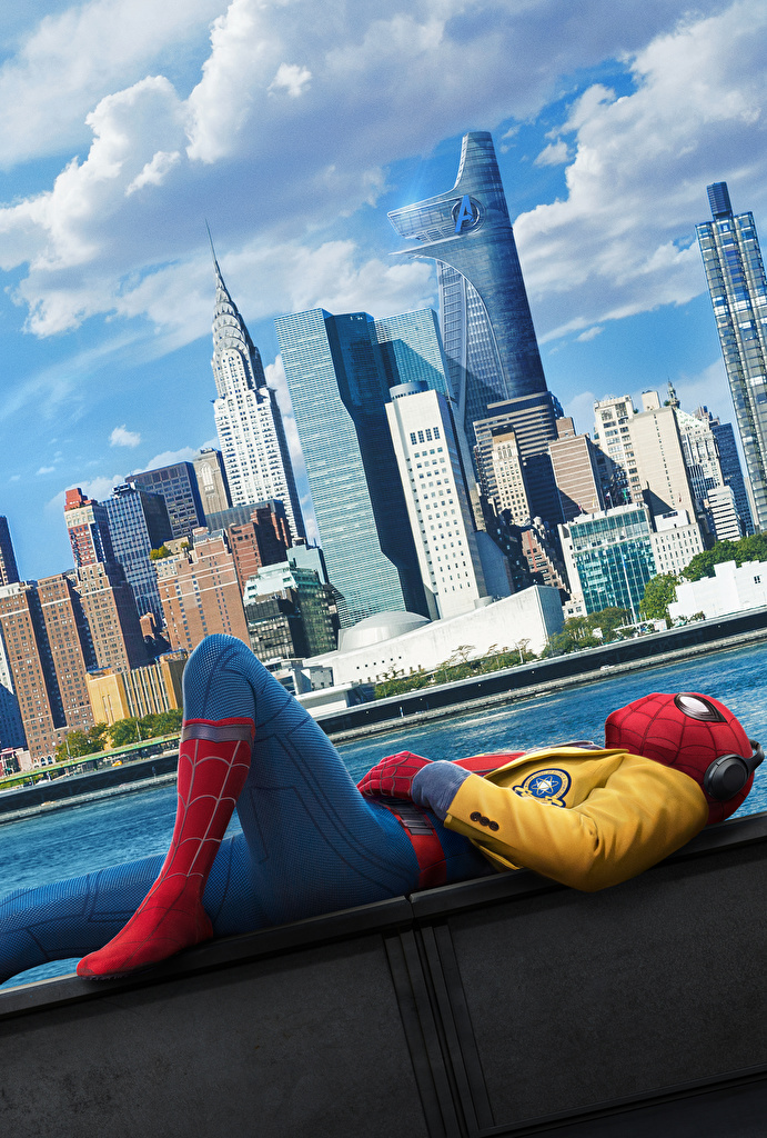 Wallpapers Spider Man Homecoming Spiderman hero Movies Skyscrapers 691x1024
