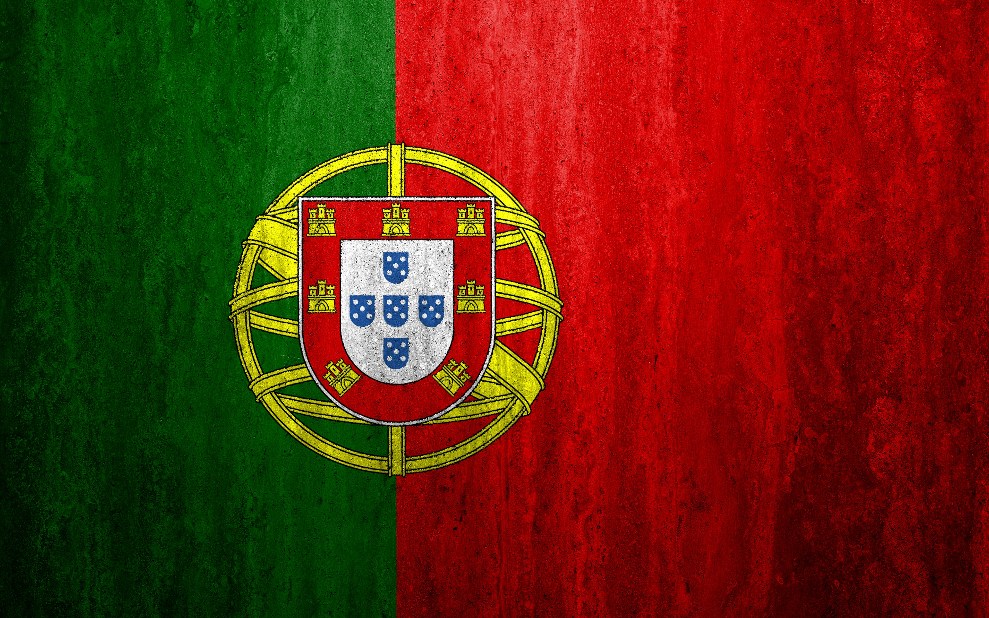 Flag Of Portugal 4k Ultra HD Wallpaper Background Image 3840x2400