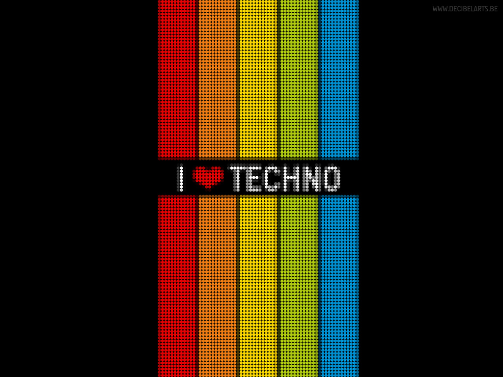I Love Techno Wallpaper - WallpaperSafari