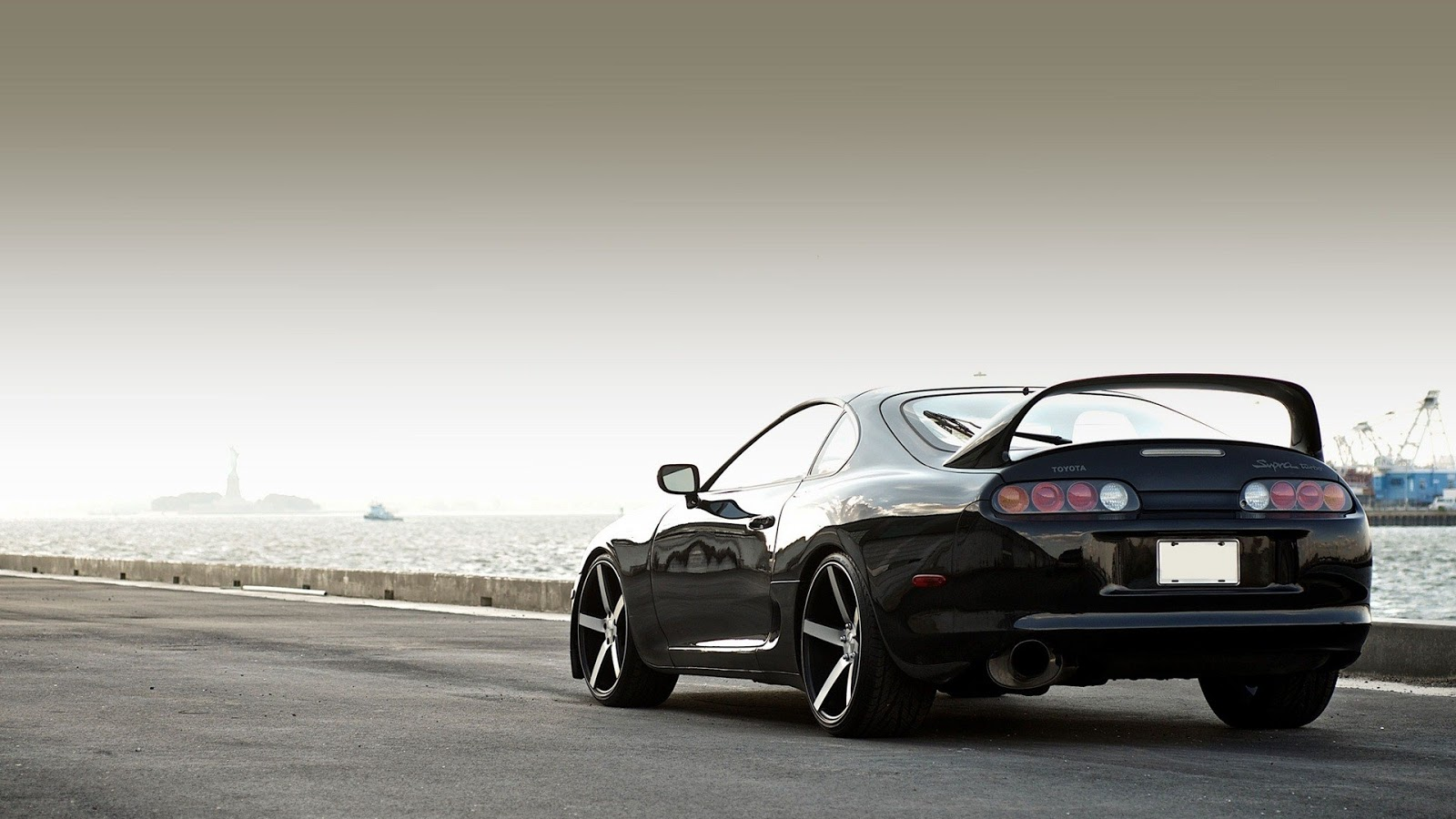 Black Toyota Supra Wallpaper for Desktop Size 1600x900 12848 1600x900