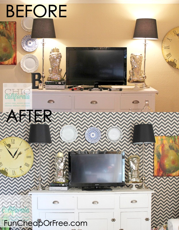 Starch Fabric Removable Faux Wallpaper   Fun Cheap or 623x800