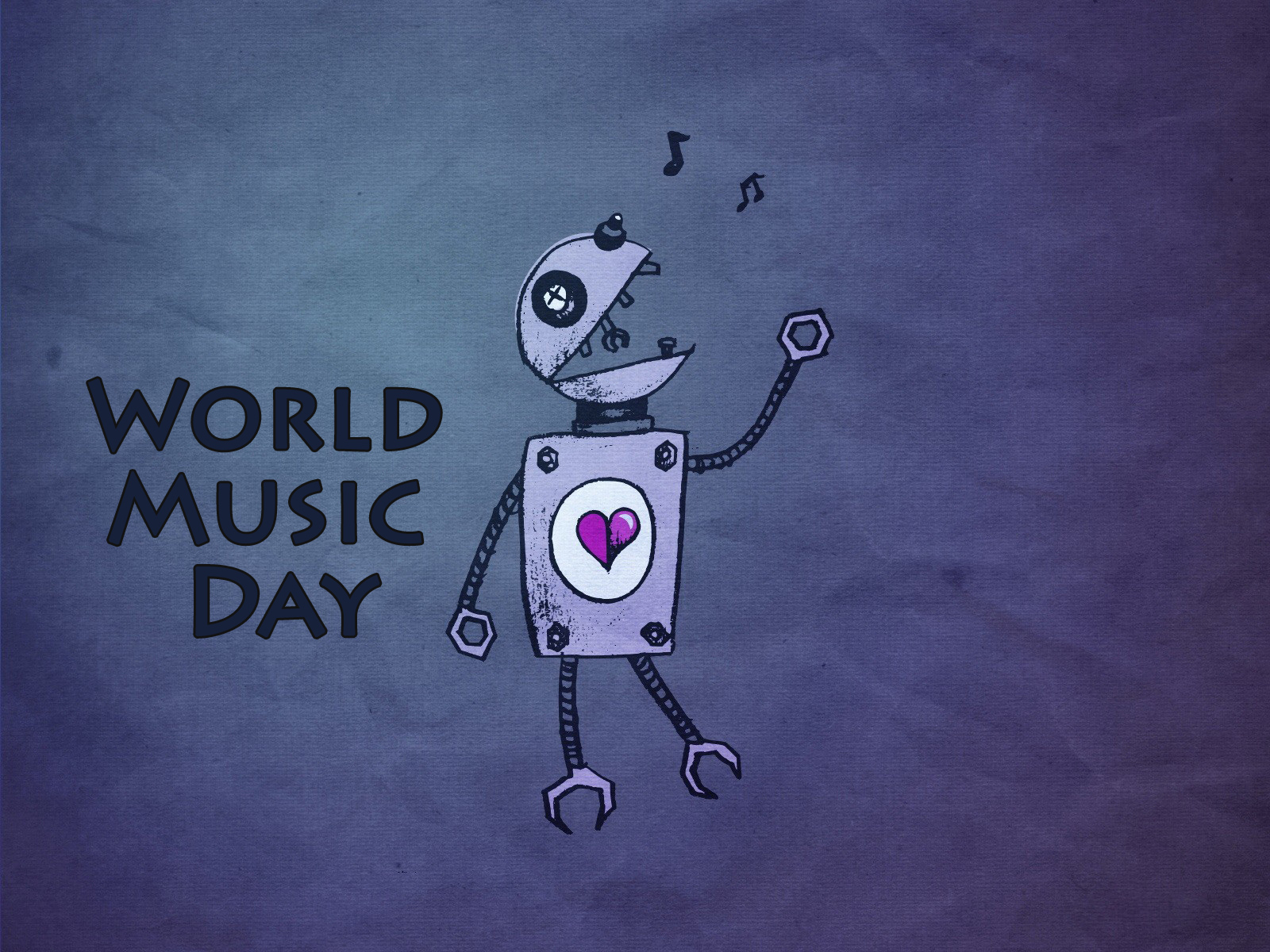 World Music Day robo hd wallpaper 1600x1200