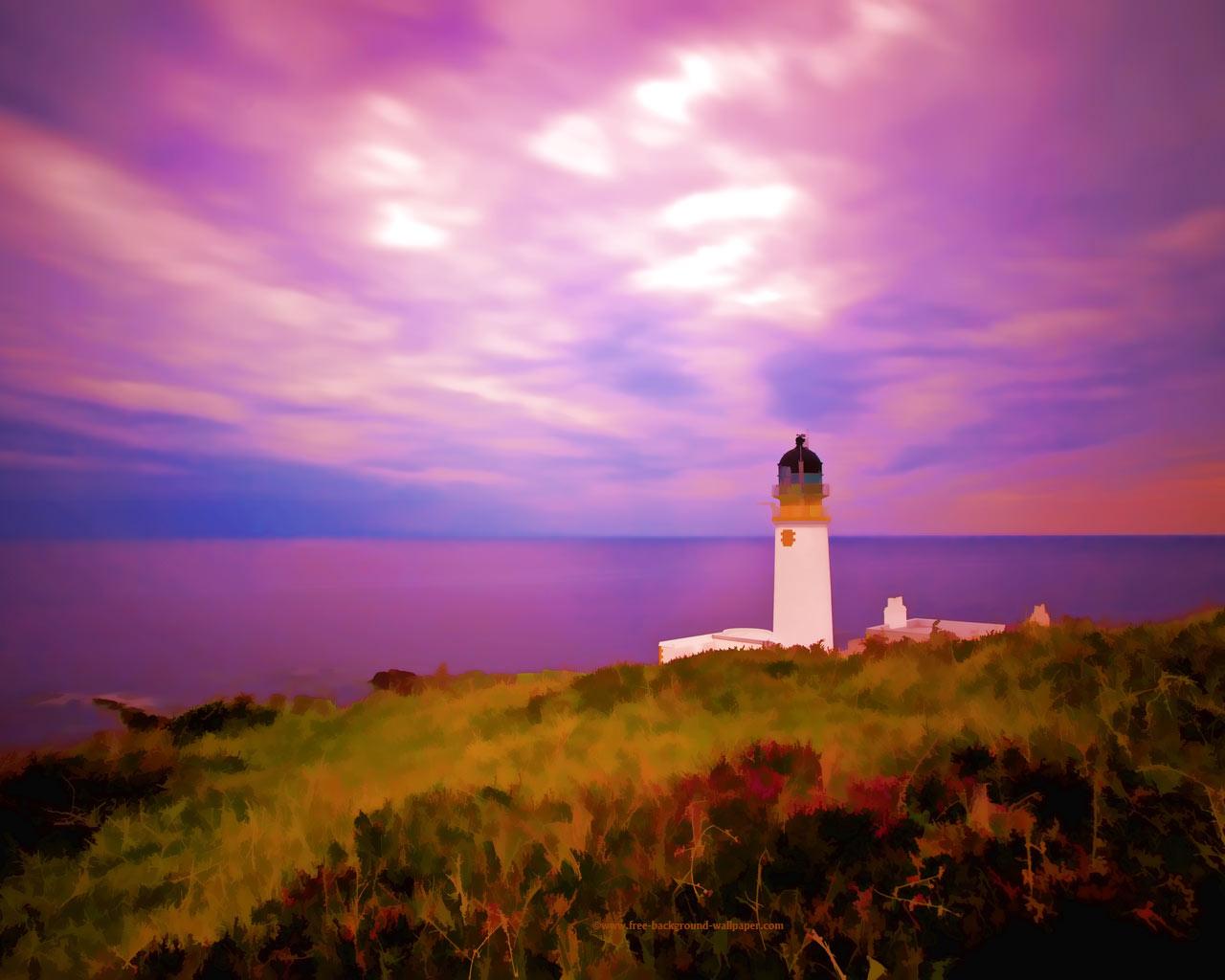 Fall Lighthouse Desktop Wallpaper
