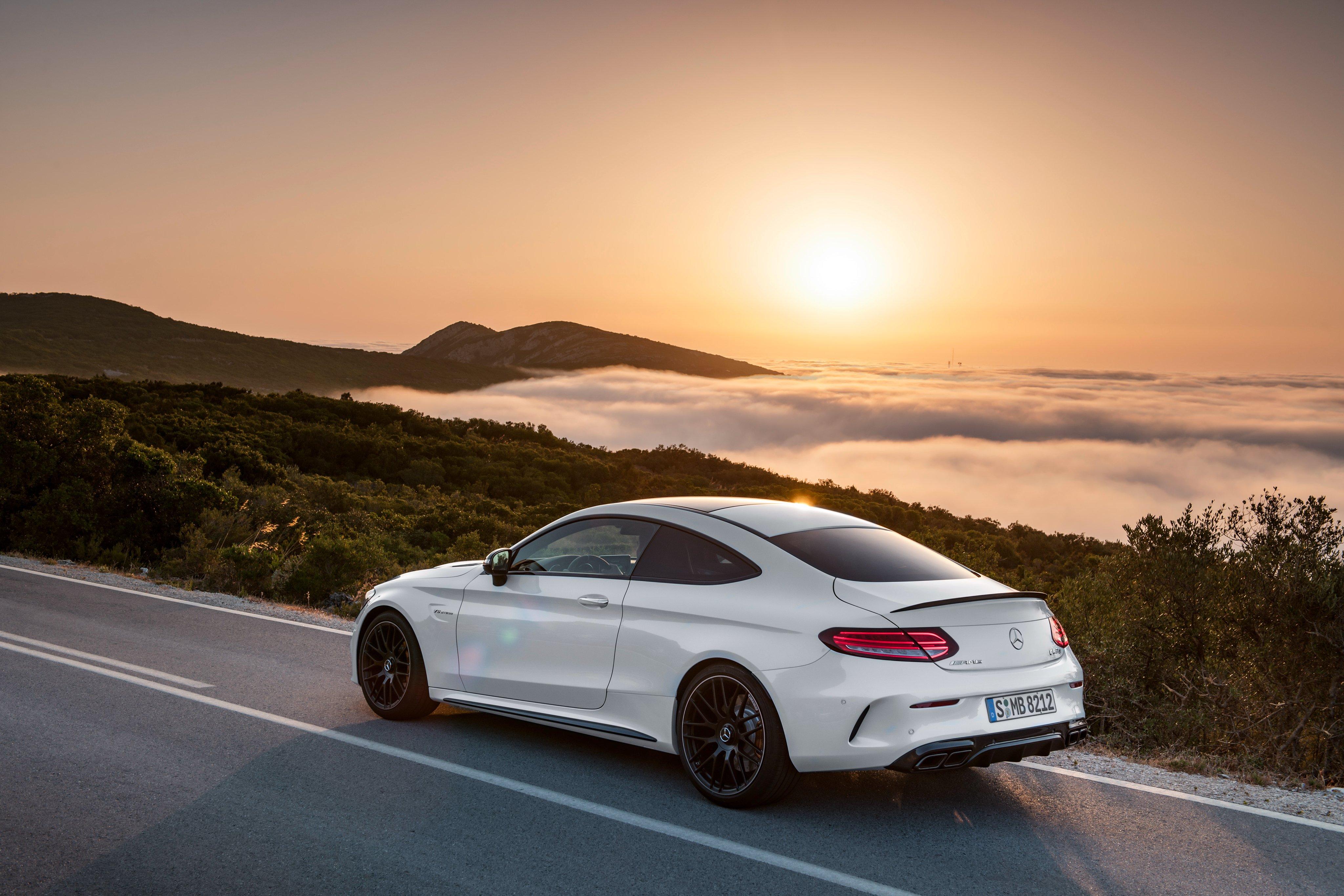 2015 Mercedes AMG C63 S Coupe C205 benz luxury wallpaper 4096x2731