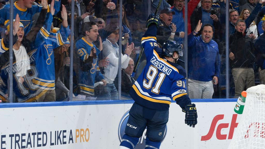 Tarasenko moves into Blues Top 10 in goals 1024x576