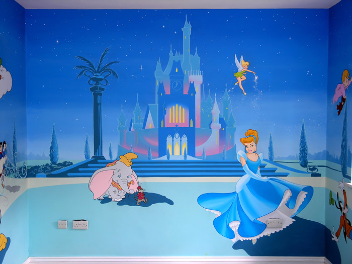 children wallpaper photos Disney Princess Wall Mural 700x525