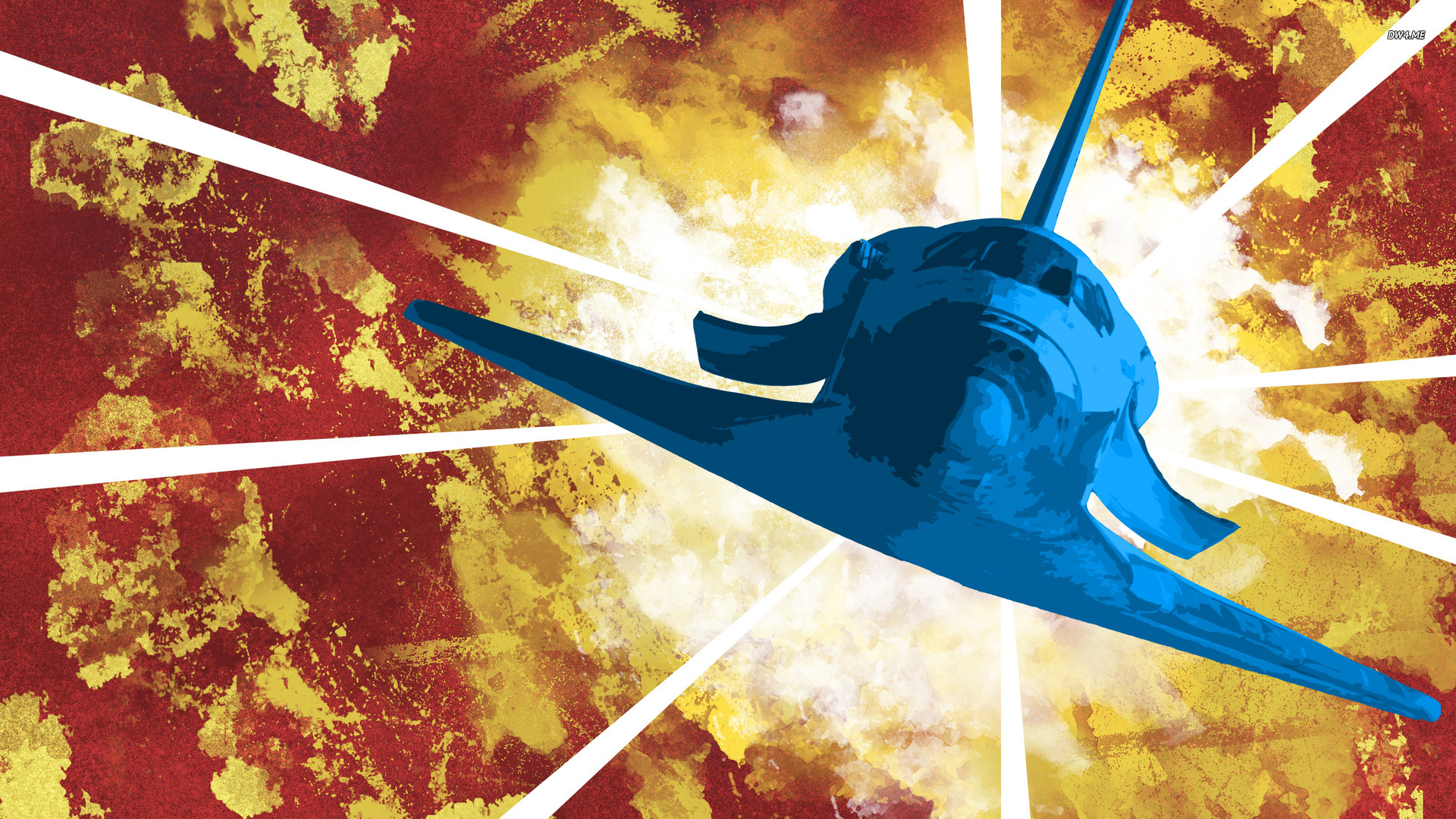 Space shuttle wallpaper - Vector wallpapers - #713