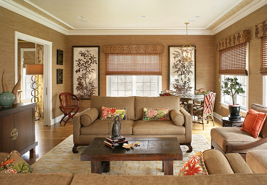 Free download Asian inspired living room has a tranquil ...