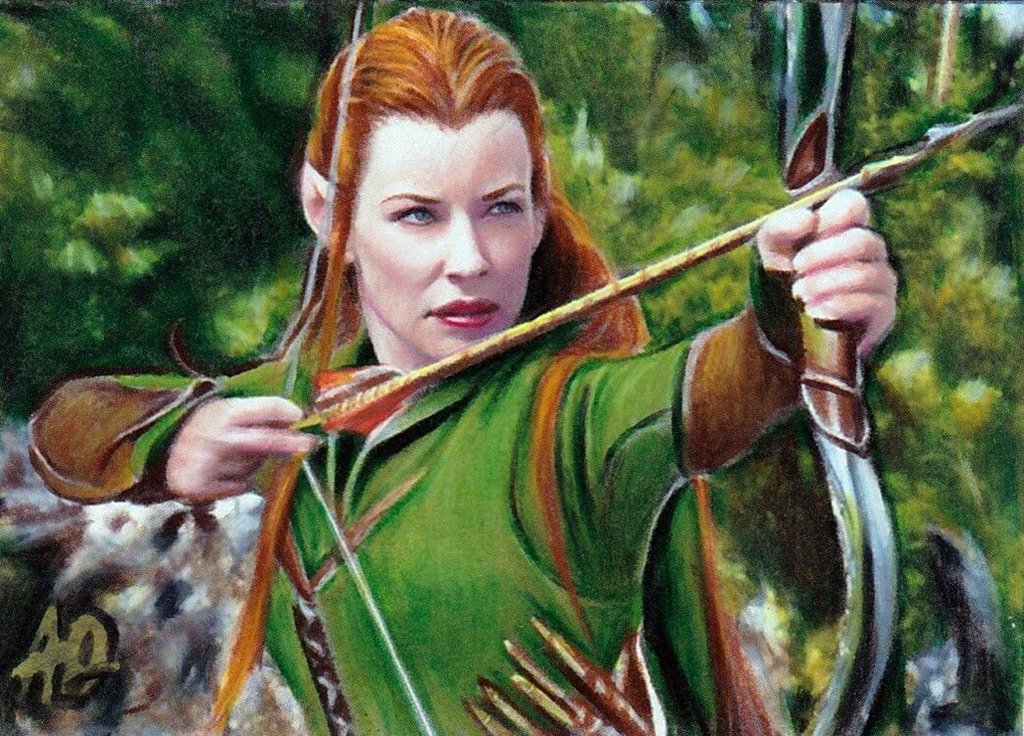 Tauriel The Hobbit Wallpaper Tauriel the hobbit sketch 1024x736