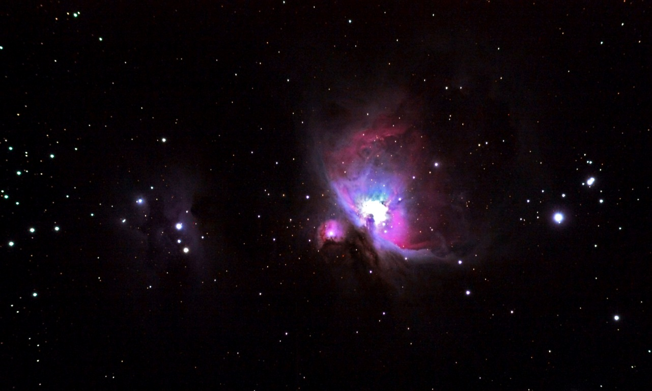 can easily see with the naked eye orion lies in the sword below orion 1281x768