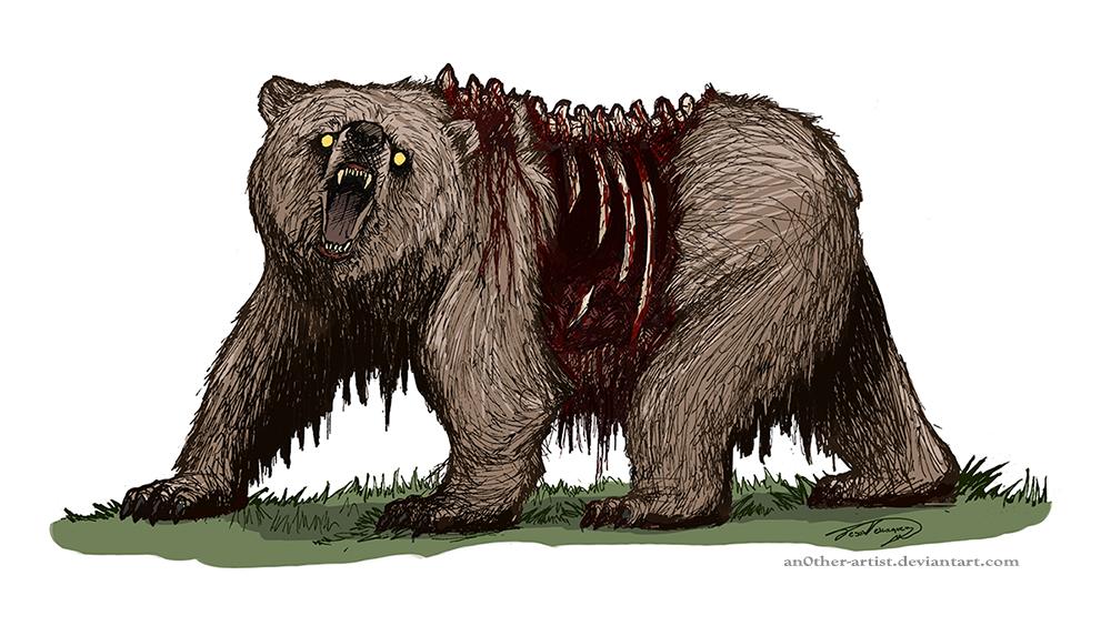California Bear Wallpaper Zombie By 1000x573