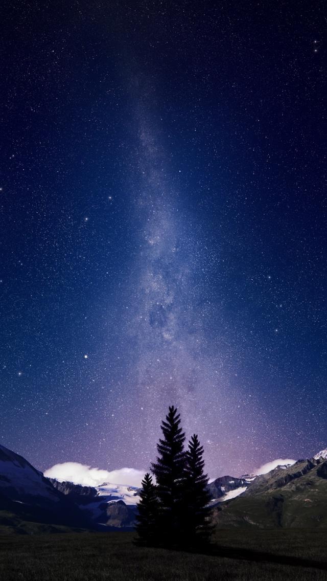 45 Night Sky Wallpaper Iphone On Wallpapersafari