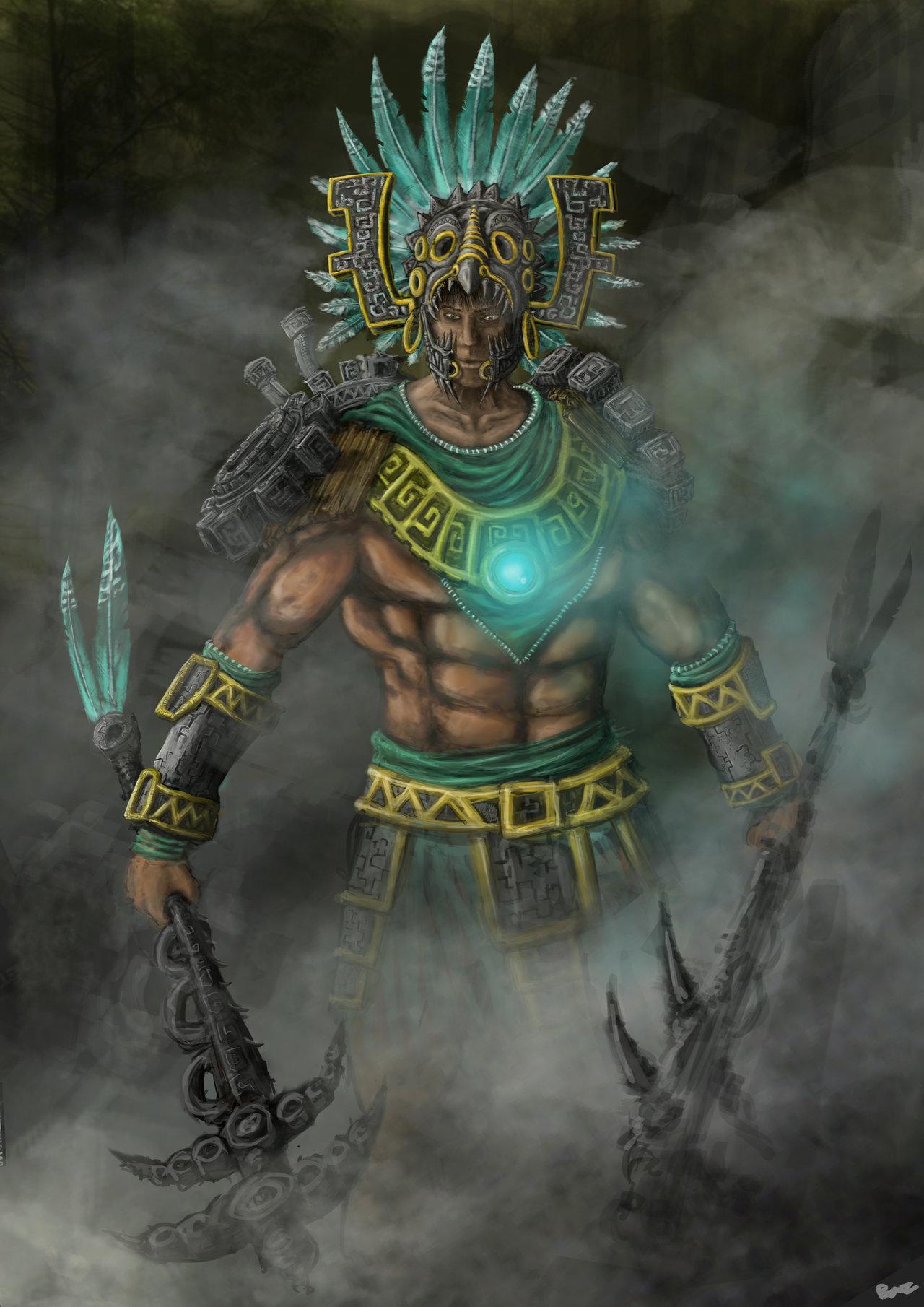 73 Aztec Warrior Wallpaper On Wallpapersafari