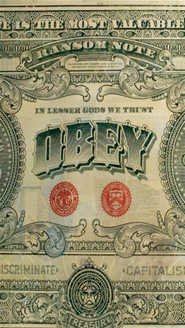 OBEY Dollar iPhone Wallpapers iPhone 5s4s3G Wallpapers 640x1136