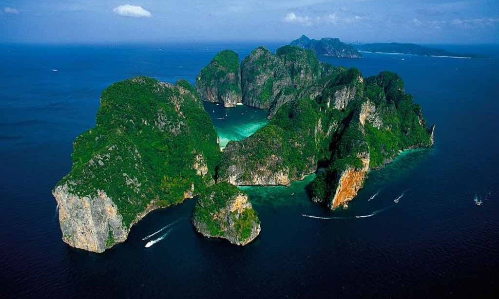 Free Download Aerial View Of Phi Phi Island Thailand