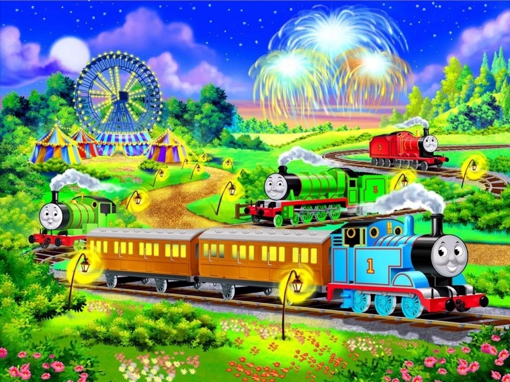 Thomas The Train Wallpaper Borders myideasbedroomcom 1024x768