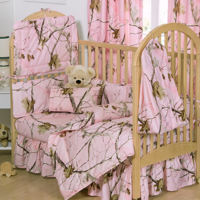Realtree Camo Crib BeddingCrib Pink Camo Bedskirt Baby Girl 1500x1500