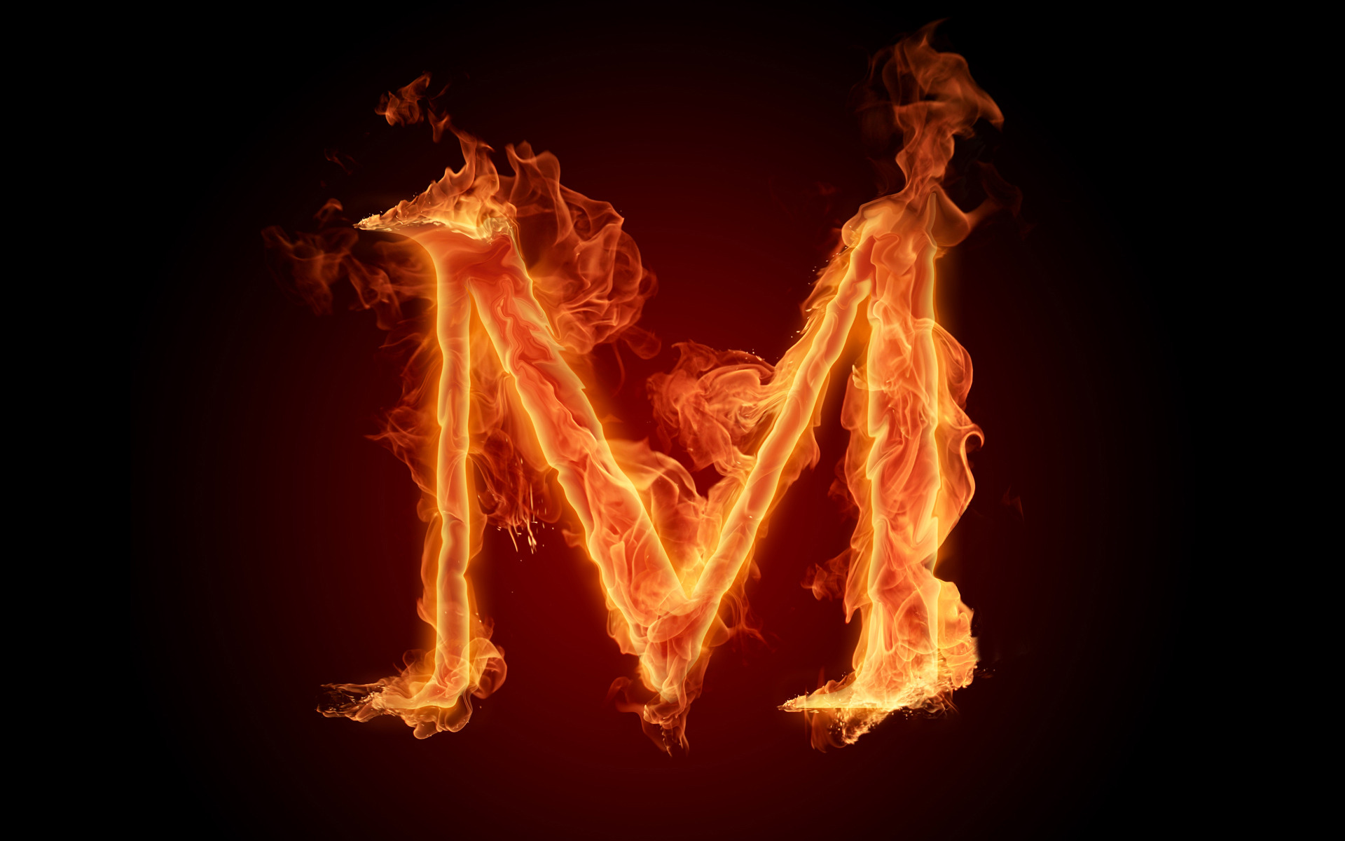 The fiery English alphabet picture M Wallpapers   HD Wallpapers 73627 1920x1200