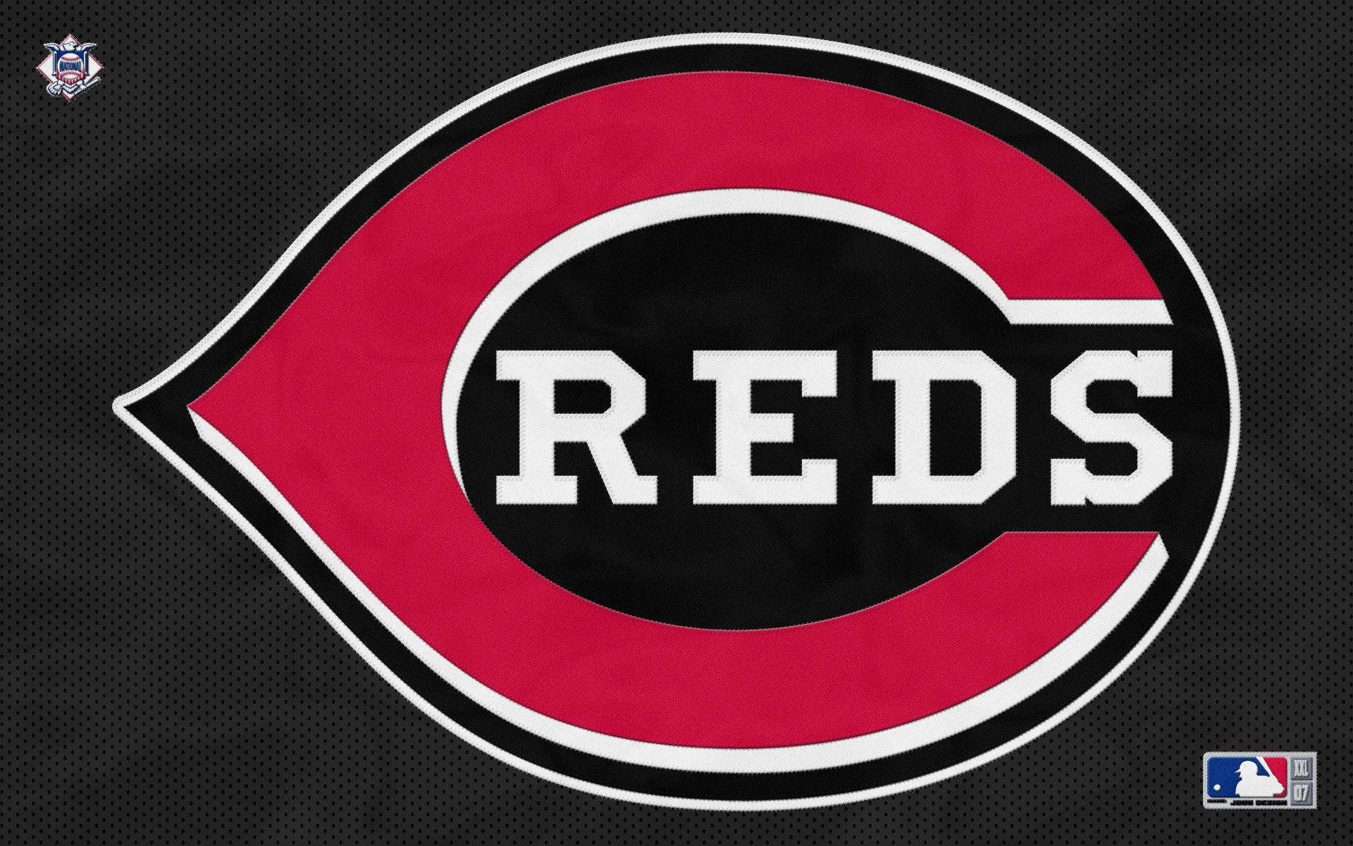 MLB Cincinnati Reds Logo Black Black Background 1920x1200 WIDE MLB 1920x1200
