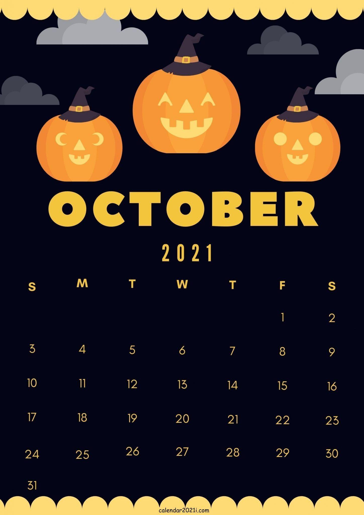 October 2021 Cute Calendar Design printable calendar 1448x2048